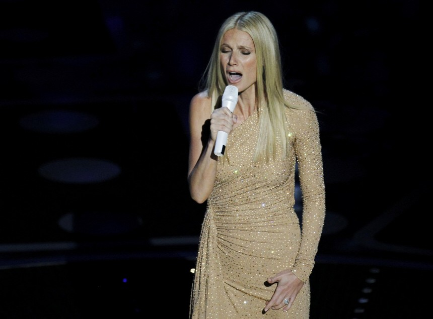 Gwenyth Paltrow sings the Oscar nomintated song 'Country Home' during the 83rd Academy Awards in Hollywood