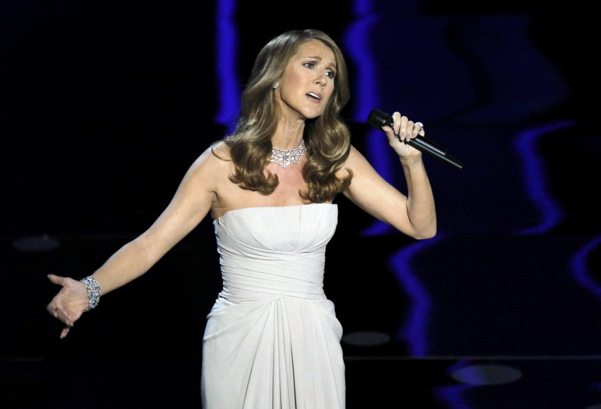 Canadian Celine Dion performs during the 83rd Academy Awards in Hollywood