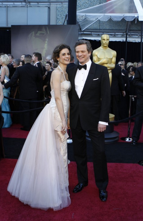 'The King's Speech,' nominee Firth and wife arrive at the 83rd Academy Awards in Hollywood