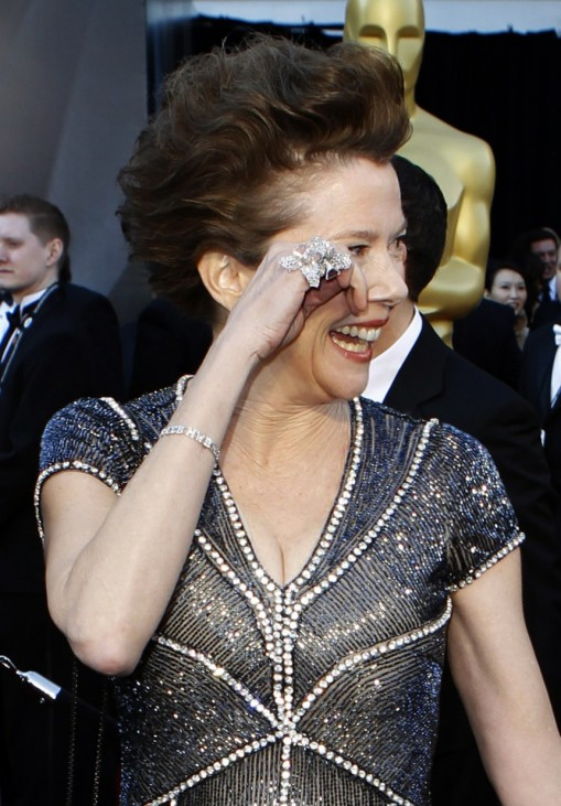 Annette Bening, best actress nominee for her role in The Kids Are All Right, arrives at the 83rd Academy Awards in Hollywood