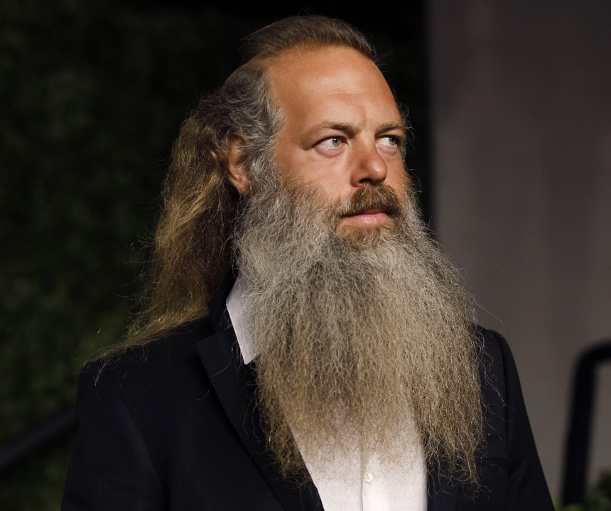Record producer Rick Rubin arrives at the 2011 Vanity Fair Oscar party in West Hollywood