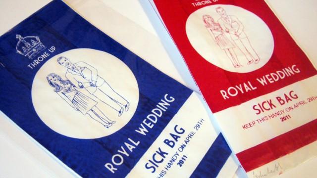 Königliche Kotztüte für Hochzeitshasser