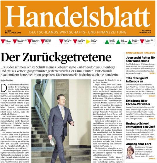 Titelblätter Guttenberg