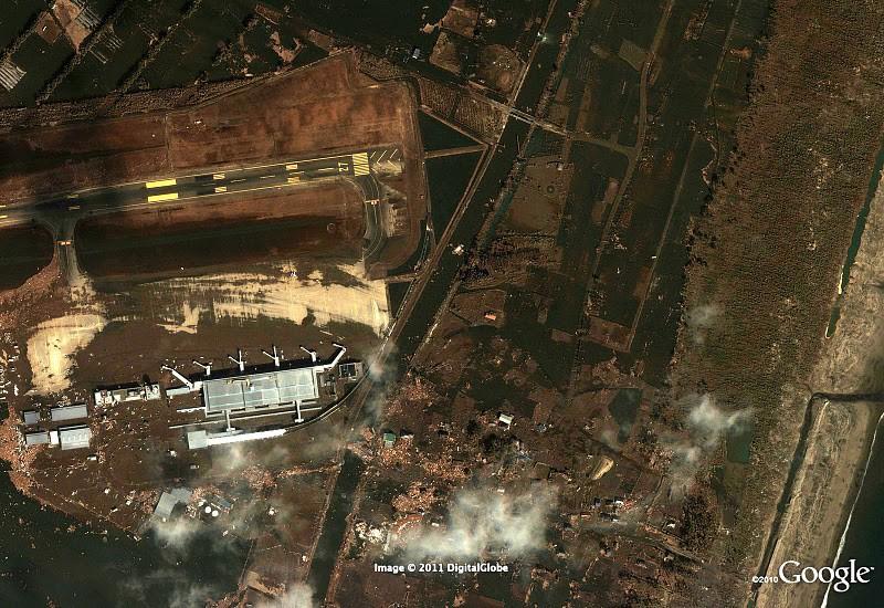 Japan Erdbeben Sendai Flughafen