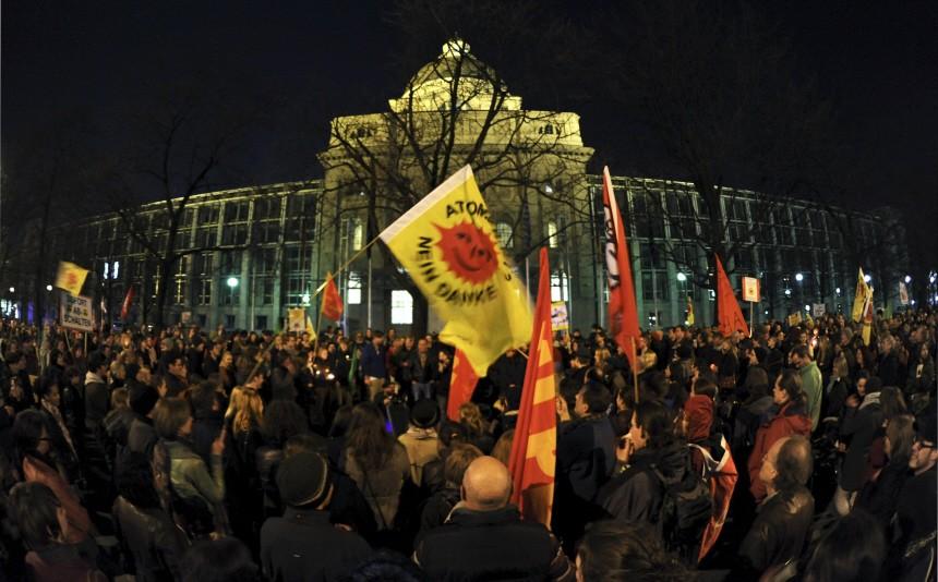 Atomkraft-Gegner demonstrieren in München
