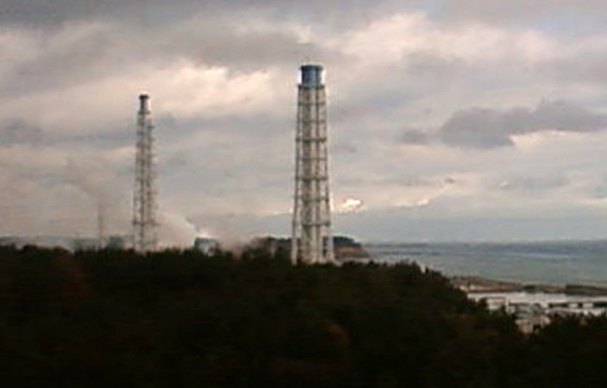 Smoke billows from the Fukushima Daiichi Nuclear Power Plant in this still image taken at 10am (0200 GMT) from a webcam