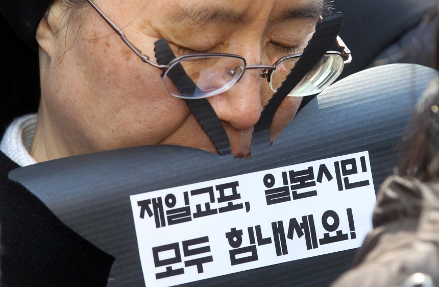 Former sex slaves in Korea pray for Japan