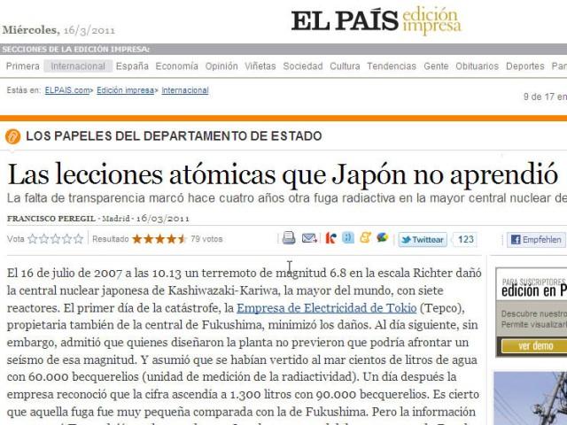 Presseschau El Pais