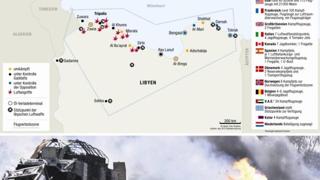 Operation Odyssey Dawn Libya Libyen Frankreich USA Großbritannien