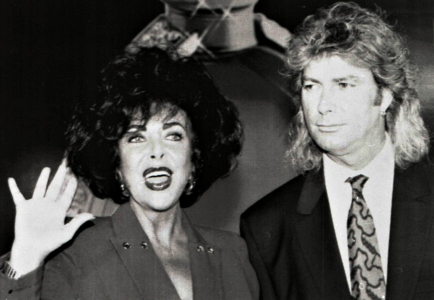 File photo of Elizabeth Taylor and Larry Fortensky in New York