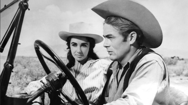 """Elizabeth Taylor und James Dean Film """"Giganten""""."""