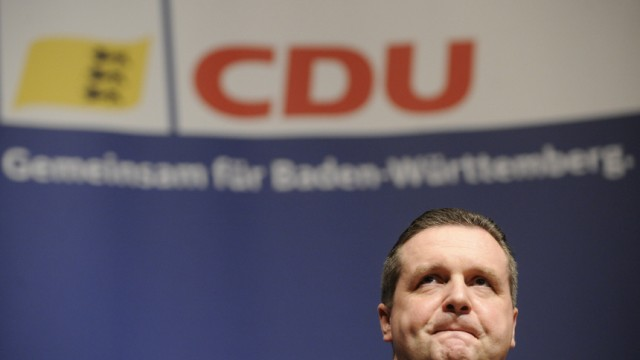 CDU-Wahlkampf in Baden-Wuerttemberg