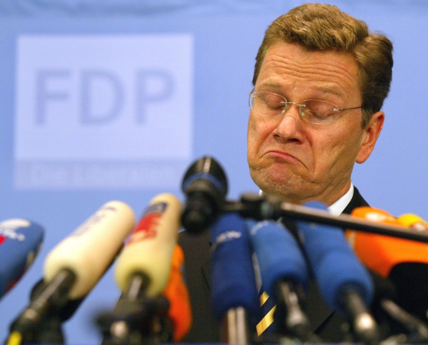 File photo of Free Democratic Party chairman Guido Westerwelle