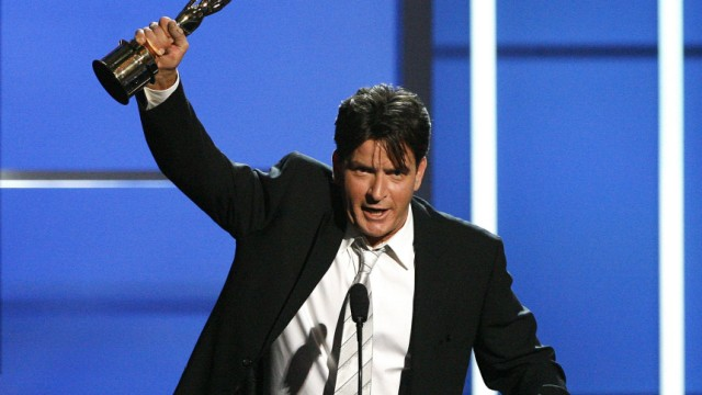 File photo of actor Charlie Sheen in Pasadena
