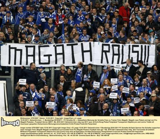 Protest gegen Magath Schalke