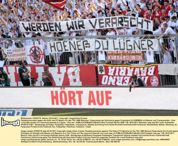 Fanproteste gegen Uli Hoeneß