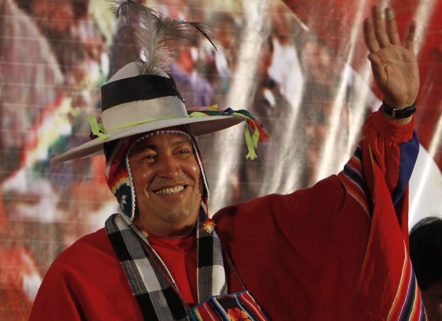 Hugo Chavez, Evo Morales