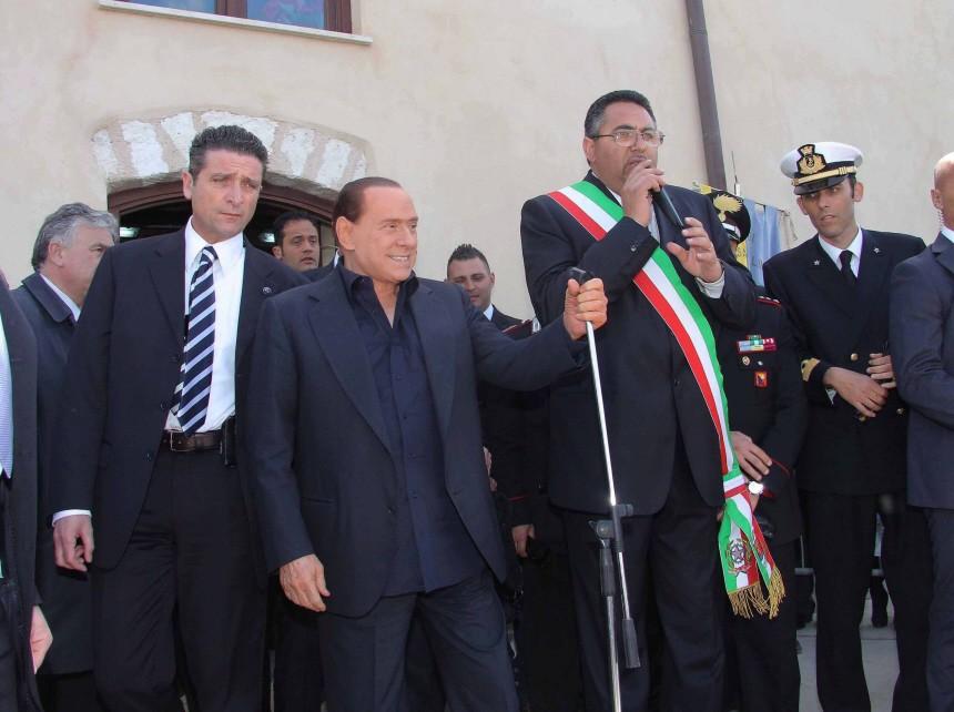 Italian Premier Silvio Berlusconi visits Lampedusa