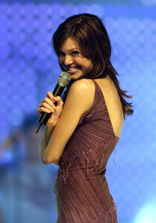 U.S. SINGER MANDY MOORE HOSTS THE MTV ASIA AWARDS IN SINGAPORE