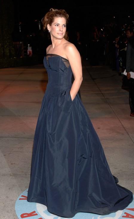 Sandra Bullock arrives at Vanity Fair Oscar Party in West Hollywood