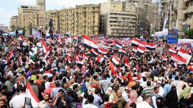 Protest in Tahrir square of Cairo