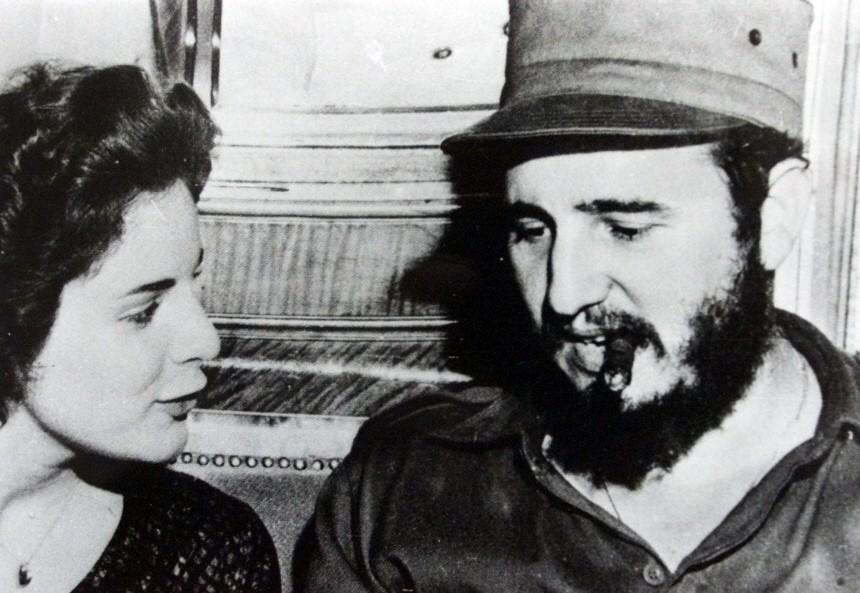 Marita Lorenz und Fidel Castro auf der MS Berlin, 1959
