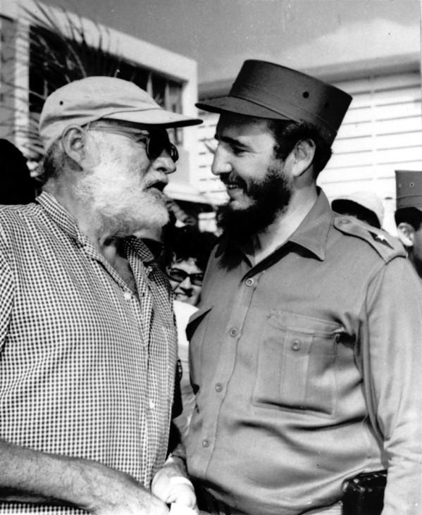 Ernest Hemingway und Fidel Castro
