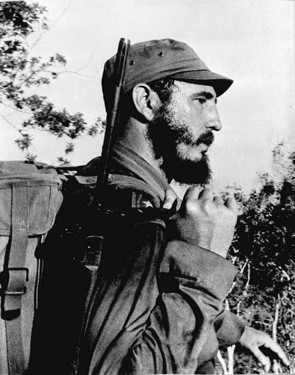 FILE PHOTO OF CUBA'S FIDEL CASTRO IN SIERRA MAESTRA DURING GUERRILLA WAR