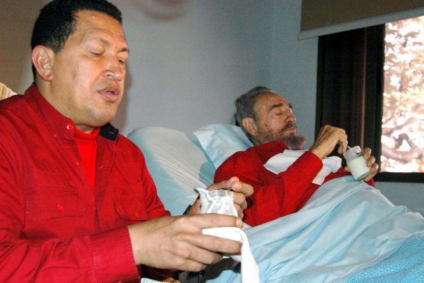 Venezuelan President Chavez visits his Cuban counterpart Castro in Havana