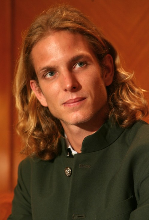 Andrea Pierre Casiraghi, son of Princess Caroline of Hanover, listens to a journalist's question during a news conference in Manila