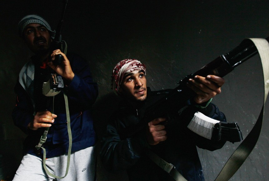 BESTPIX  Rebels Engage Gaddafi Forces in Close Combat in Libyan City Of Misurata Struggles Against Gaddafi's Forces