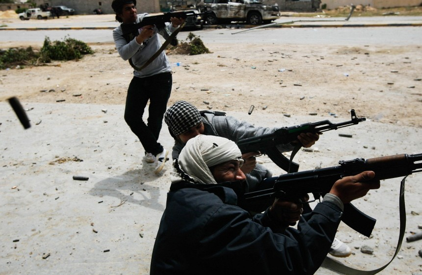 Rebels Engage Gaddafi Forces in Close Combat in Libyan City Of Misurata Struggles Against Gaddafi's Forces