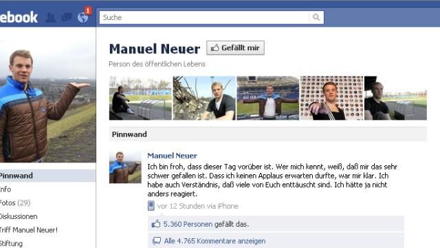Manuel Neuer Facebookseite