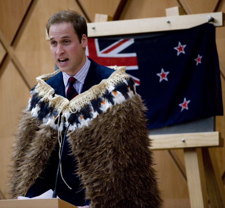 Britain's Prince William speaks during the opening of the new Supreme Court building in Wellington on the second day of a three day visit to New Zealand