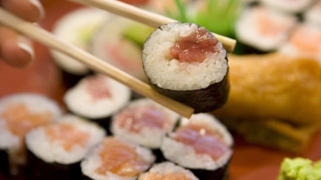 Sushi Stäbchen Japan Reis