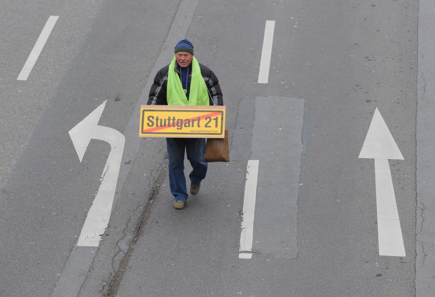 Bei Gruenen wachsen Zweifel am Ausstieg aus dem Projekt 'Stuttgart 21'