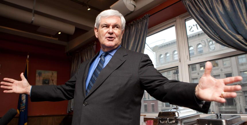 Newt Gingrich Speaks At New Hampshire GOP Gathering