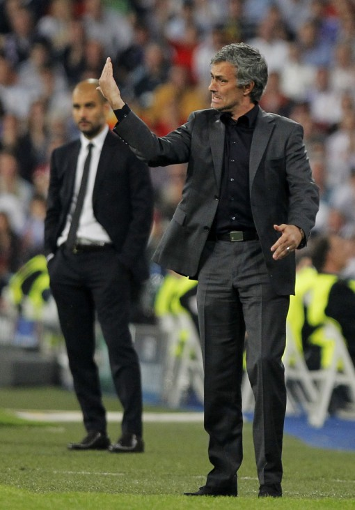 coach Jose Mourinho, coach Josep Guardiola