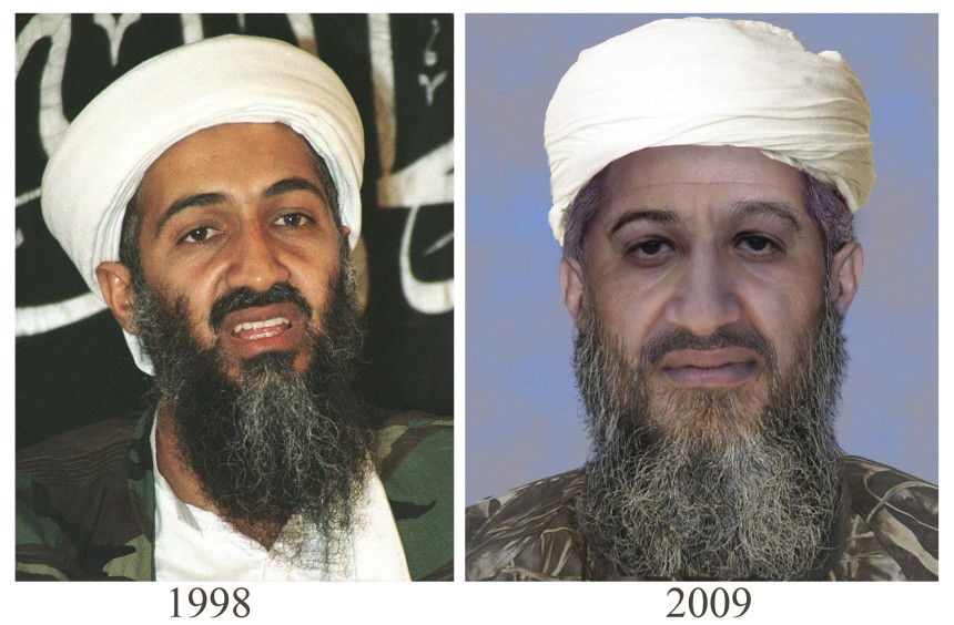 File 'age progressed' photo from the FBI and U.S. Department of Stat of Osama Bin Laden