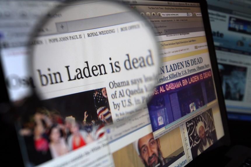 Onlinseiten zum Tod von Osama bin Laden