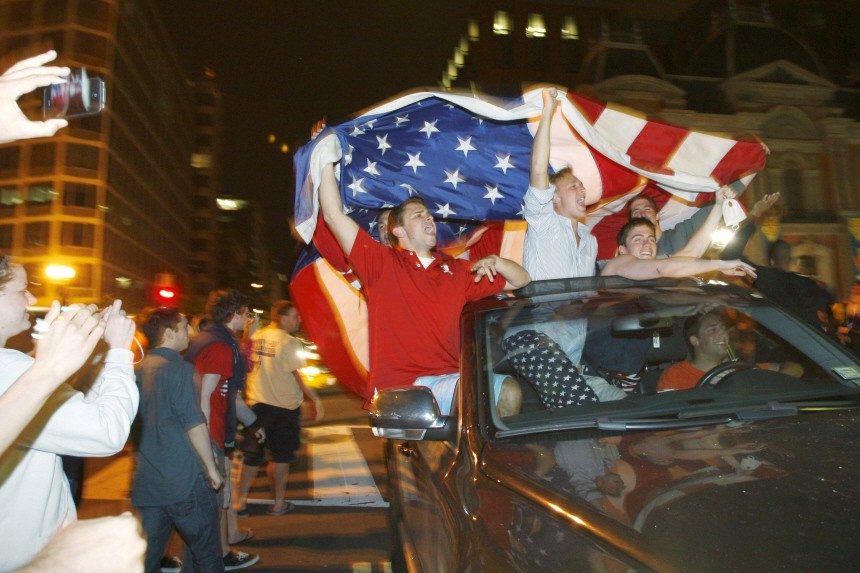 Revelers celebrate early morning hours in Washington