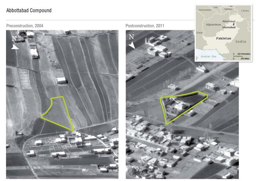 Luftaufnahme Abbottabad - Aufenthaltsort Osama Bin Laden
