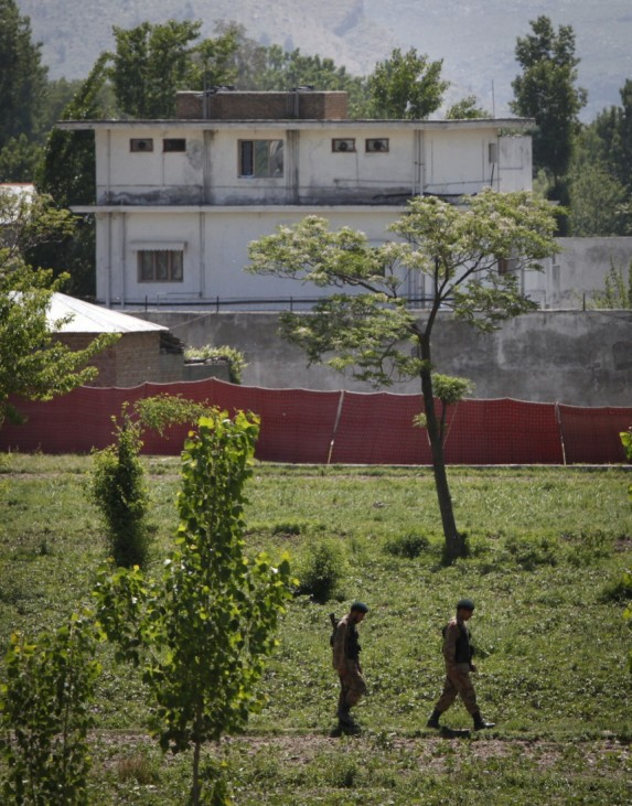 Soldiers keep guard around a compound within which al Qaeda leader Osama bin Laden was killed in Abbottabad