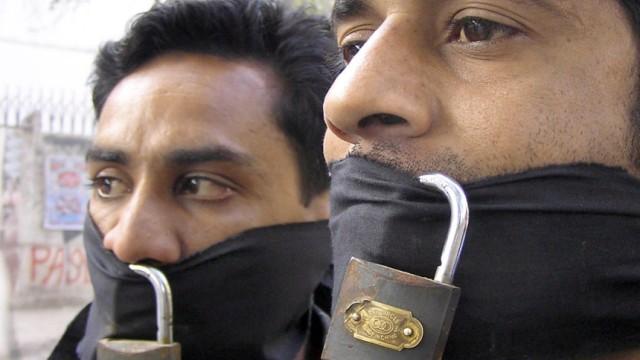 Zum Tag der Pressefreiheit - Protest pakistanischer Journalisten