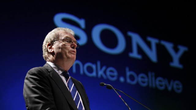 File photo of Howard Stringer, CEO and president of Sony Corporation, speaking at the Sony Media Technology Centre launch on the outskirts of Mumbai