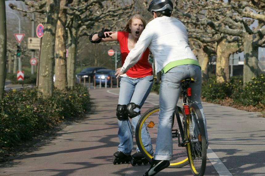 (Service-Bild) Vorsicht beim Joggen oder Radfahren