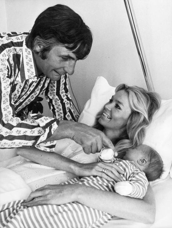 Gunter Sachs mit Mirja Sachs und Sohn Christian Gunnar