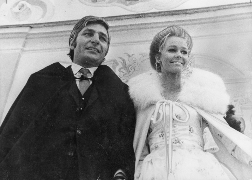 Gunter Sachs heiratet Mirja Larsson, 1969