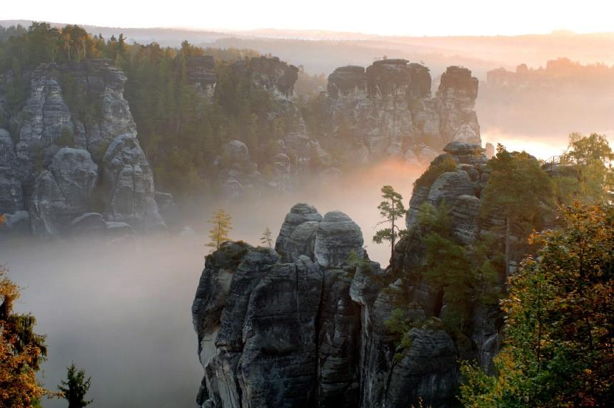 Herbstnebel in der Sächsischen Schweiz