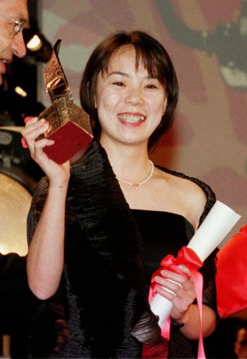 NAOMI KAWASE nach dem Gewinn der goldenen Palme in Cannes
